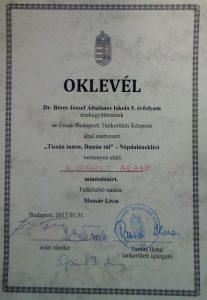 csapat-oklevel